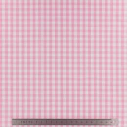 Tissu vichy popeline coton 6/6mm rose - 283