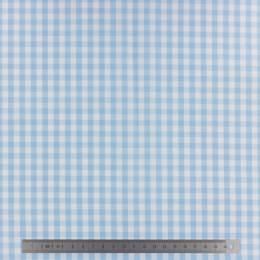 Tissu vichy popeline coton 6/6mm ciel - 283