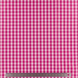 Tissu vichy popeline coton 6/6mm fuchsia - 283