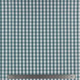 Tissu vichy popeline coton 6/6mm canard - 283