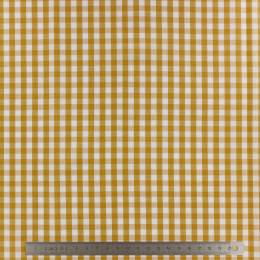 Tissu vichy popeline coton 6/6mm safran - 283