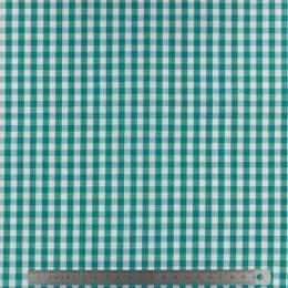 Tissu vichy popeline coton 6/6mm emeraude - 283