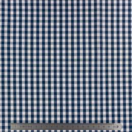 Tissu vichy popeline coton 6/6mm marine - 283