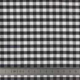 Tissu vichy popeline coton 6/6mm noir - 283