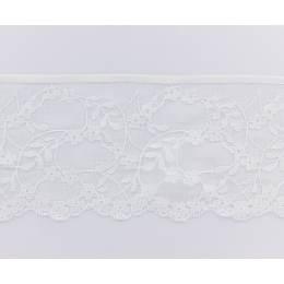 Bande rachel 100%poly. blanc 12 cm - 288