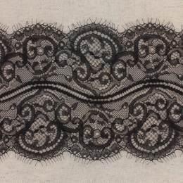 Bande jacquard noir 15 cm - 288
