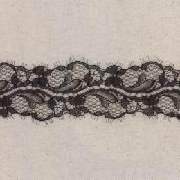 Bande jacquard noir 6,5 cm - 288