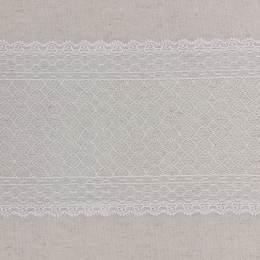 Bande jacquard blanc 15 cm - 288