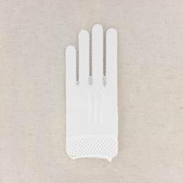 Gant filet f 100% poly. t.u.blanc - 307