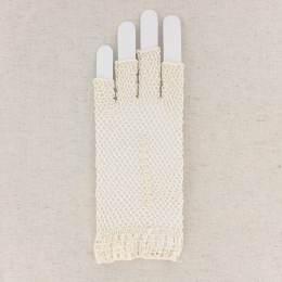 Mitaine crochet coton écru - 307