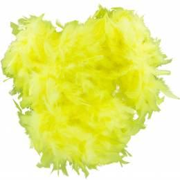 Boa moyen plumes déchirées 1,90m jaune - 319