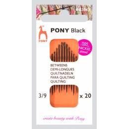 """Aiguille demi-longue """"pony black"""" n°3/9 X20 - 346"""