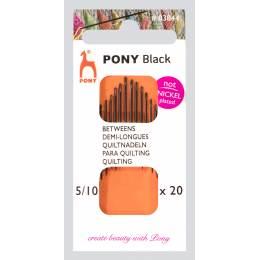 """Aiguille demi-longue """"pony black"""" n°5/10 X20 - 346"""