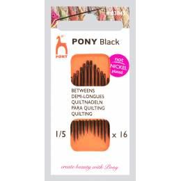 """Aiguille demi-longue """"pony black"""" n°1/5 X16 - 346"""