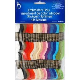 Coton à broder mouliné lot de 36 coloris assortis - 346