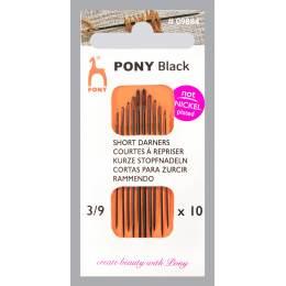 """Aiguille courte à repriser """"Pony black"""" n°3/9 - 346"""