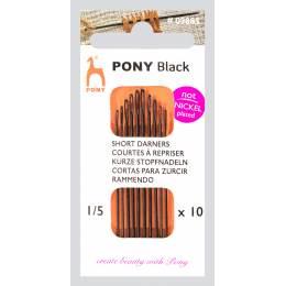 """Aiguille courte à repriser """"Pony black"""" n°1/5 - 346"""