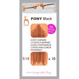 """Aiguille courte à repriser """"Pony black"""" n°5/10 - 346"""