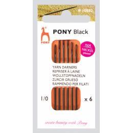Aiguille à repriser laine pointue black n°1/0 X6 - 346