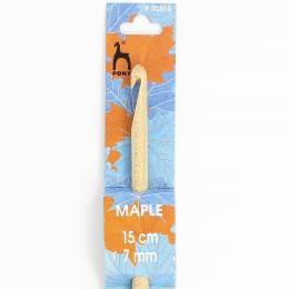 Crochet bois d'érable 15cm n°7 - 346