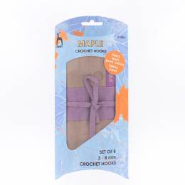 Pochette tissu + 8 crochets maple tailles ass - 346