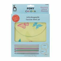 """Set Pony de crochet circulaire """"chroma"""" - 346"""