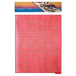 Canevas plastique 32,50 x 25 cm rouge - 346
