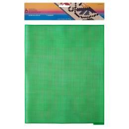 Canevas plastique 32,50 x 25 cm x7u vert prairie - 346