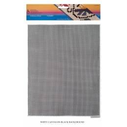 Canevas plastique 32,50 x 25 cm x7u blanc - 346