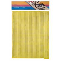 Canevas plastique 32,50 x 25 cm jaune - 346