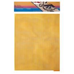 Canevas plastique 32,50 x 25 cm orange - 346