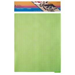 Canevas plastique 32,50 x 25 cm vert fluo - 346