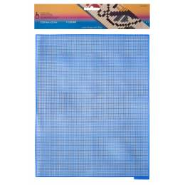 Canevas plastique 32,50 x 25 cm bleu roy - 346