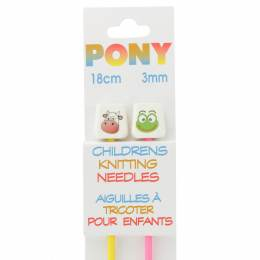 Aiguille tricot enfant 18 cm 3mm animaux - 346