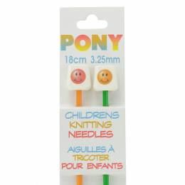 Aiguille tricot enfant 18 cm 3,25 mm smiley - 346