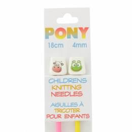 Aiguille tricot enfant 18 cm 4mm animaux - 346