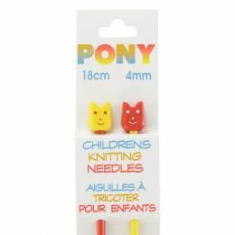 Aiguille tricot enfant 18 cm 4mm - 346