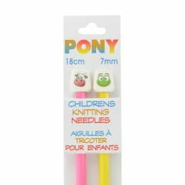 Aiguille tricot enfant 18 cm 7 mm animaux - 346
