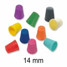 Lot de 10 dés plastiques 14 mm - col assortis - 346