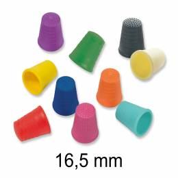 Lot de 10 dés plastiques 16,5 mm - col assortis - 346