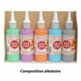 5 flacons anti dérapant couleurs aléatoires - 35