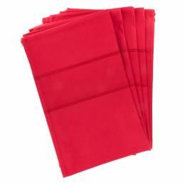 Torchon à broder 100% coton 45x70cm rouge - 367