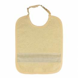 Bavoir à broder élastique jaune - 367