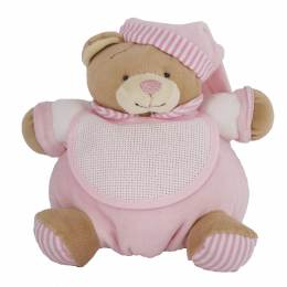 Doudou ours à broder rose - 367