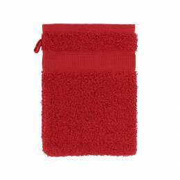 Gant éponge à broder rouge