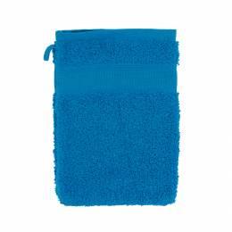 Gant éponge à broder turquoise