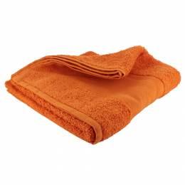 Serviette éponge à broder 50/100 orange