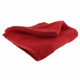 Serviette éponge à broder 50/100 rouge