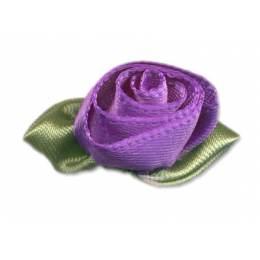 Fleur grand modèle x 10 violet/vert - 397