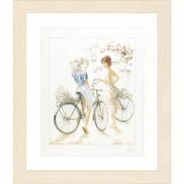 Kit au point compté filles sur bicyclettes  - 4